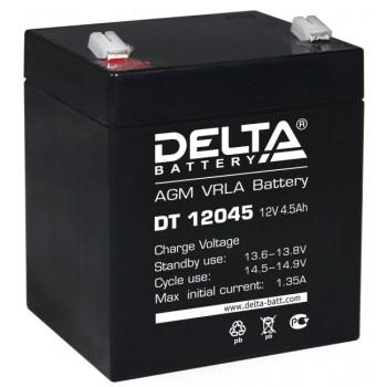 Свинцово кислотный аккумулятор Delta DT 12045