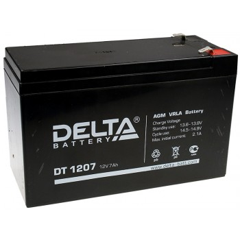 Свинцово кислотный аккумулятор Delta DT 1207 (12В, 7 а/ч)