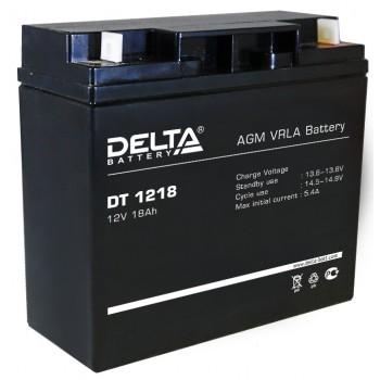 Свинцово кислотный аккумулятор Delta DT 1218