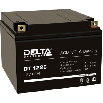 Свинцово кислотный аккумулятор Delta DT 1226