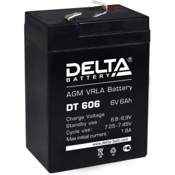 Свинцово кислотный аккумулятор Delta DT 606
