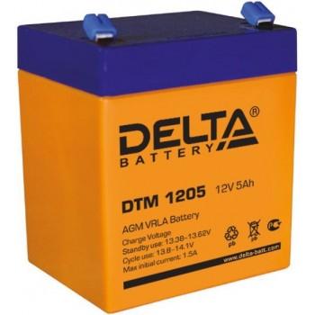 Свинцово кислотный аккумулятор Delta DTM 1205
