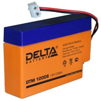 Свинцово кислотный аккумулятор Delta DTM 12008