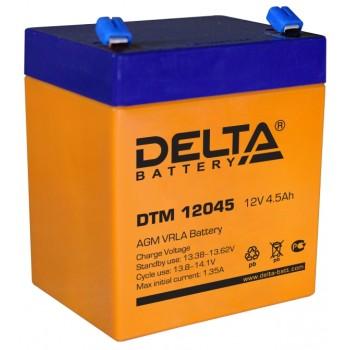 Свинцово кислотный аккумулятор Delta DTM 12045