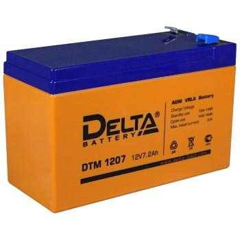 Свинцово кислотный аккумулятор Delta DTM 1207