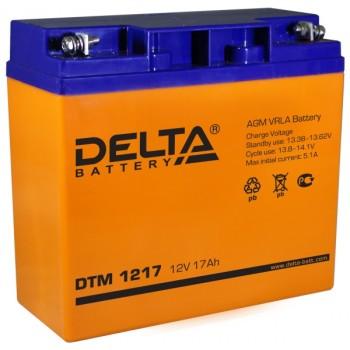 Свинцово кислотный аккумулятор Delta DTM 1217