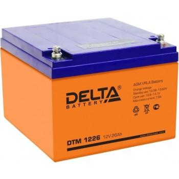 Свинцово кислотный аккумулятор Delta DTM 1226 (12 В, 26 Ач)