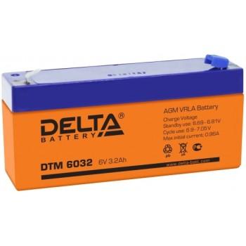 Свинцово кислотный аккумулятор Delta DTM 6032
