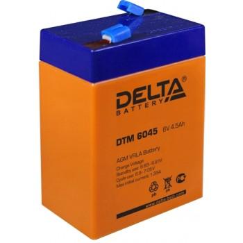 Свинцово кислотный аккумулятор Delta DTM 6045