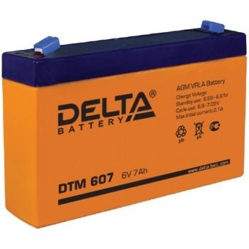 Свинцово кислотный аккумулятор Delta DTM 607