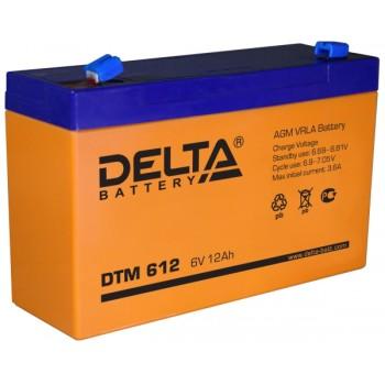 Свинцово кислотный аккумулятор Delta DTM 612