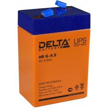 Свинцово кислотный аккумулятор Delta HR 6-4.5