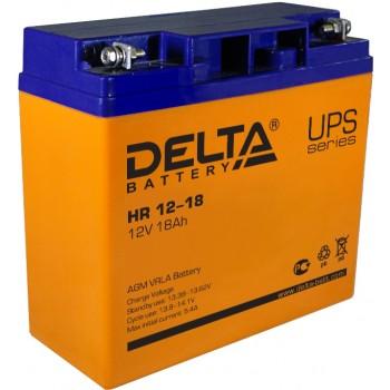 Свинцово кислотный аккумулятор Delta HR 12-18