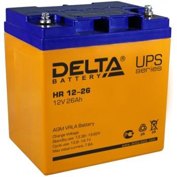Свинцово кислотный аккумулятор Delta HR 12-26