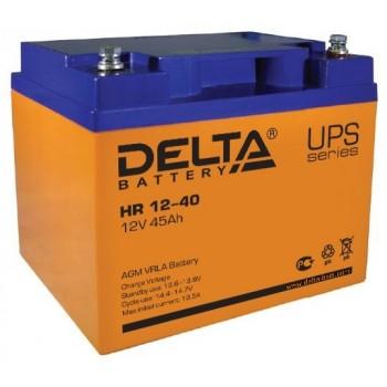 Свинцово кислотный аккумулятор Delta HR 12-40