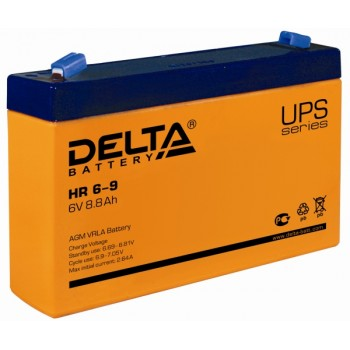 Свинцово кислотный аккумулятор Delta HR 6-9 (634W)