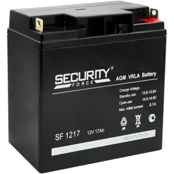 Свинцово кислотный аккумулятор Security Force SF 1217