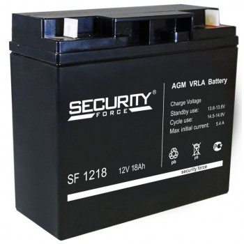 Свинцово кислотный аккумулятор Security Force SF 1218