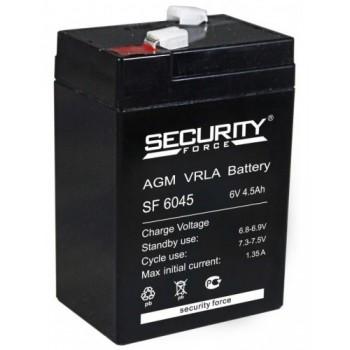 Свинцово кислотный аккумулятор Security Force SF 6045