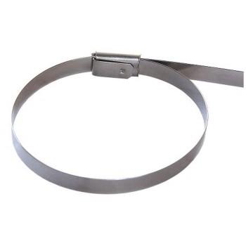 Стяжка кабельная стальная 150х4,6 мм, металлические, хомут стальной, 10шт