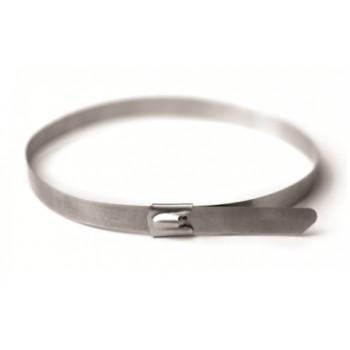 Стяжка кабельная стальная 350х4,6 мм, металлические, хомут стальной, 10шт