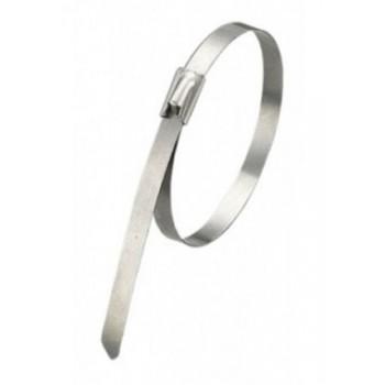 Стяжка кабельная стальная 400х4,6 мм, металлические, хомут стальной, 10шт