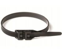 Стяжка кабельная (хомут) с двойным замком 360х9,0 мм черный