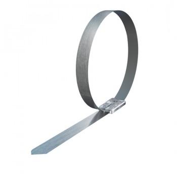 Стяжка кабельная стальная 200х4,6 мм, металлическая, хомут стальной, 10шт