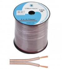 Акустический кабель Cabletech 2х0.75 мм2, прозрачный