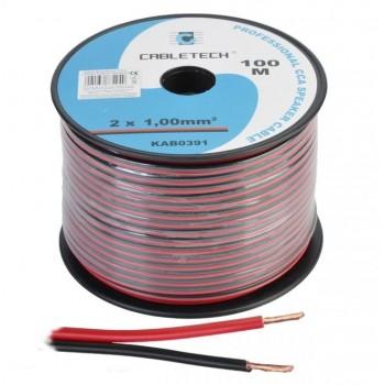 Кабель акустический Cabletech 2х1.0 мм2 (56х0.15мм) CCA, 100м