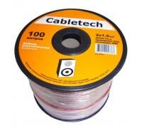 Акустический кабель Cabletech 2х1.5 мм2, прозрачный