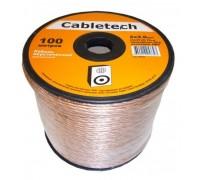 Акустический кабель Cabletech 2х2.0 мм2, прозрачный
