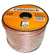 Акустический кабель Cabletech 2х2.5 мм2, прозрачный