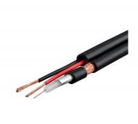 КВК-П-2Э 2x0.5 мм2, 75 Ом, плоский, outdoor кабель комбинированный