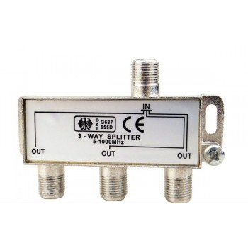 Делитель Splitter ТВ х 3 под F разъём 5-1000 МГц