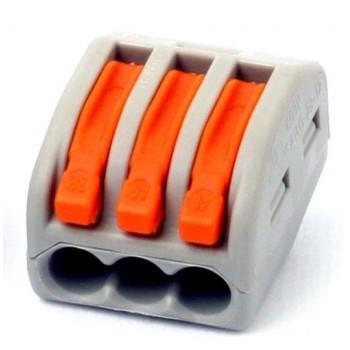 BLOX 3x0.08-4/2.5 мм2 - универсальная клемма с зажимами для 3-х проводов