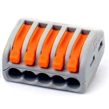 BLOX 5x0.08-4/2.5 мм2 - универсальная клемма с зажимами для 5-ти проводов