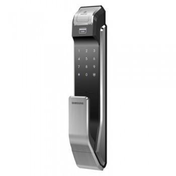 Биометрический дверной замок Samsung SHS-P718 XBK (от себя)