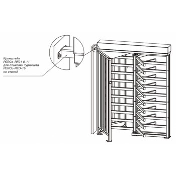 Кронштейн PERCo-RF01 0-11 для стыковки турникета PERCo-RTD-15 со стеной