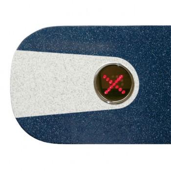 PERCo-C-03G blue Крышка турникета из искусственного камня с двумя индикаторами, синий цвет