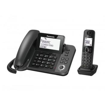 Беспроводной радиотелефон DECT Panasonic KX-TGF310RUM,  серый металлик