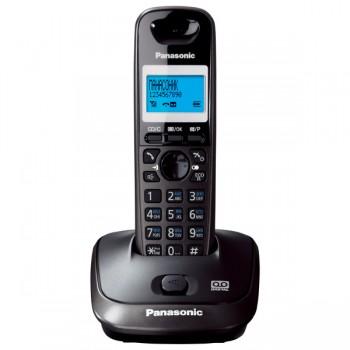 Радиотелефон DECT Panasonic KX-TG2521RuT, темно-серый металлик