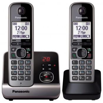 Радиотелефон Panasonic KX-TG6722RuB (2 трубки в комплекте)