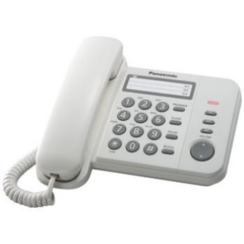 Проводной телефон Panasonic KX-TS2352RUW с индикатором вызова