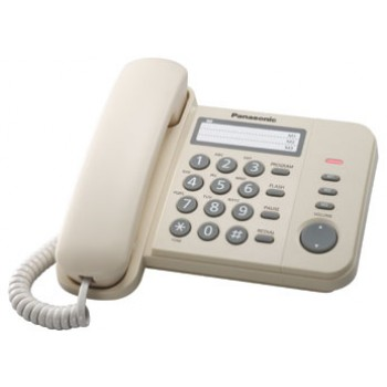 Проводной телефон Panasonic KX-TS2352RUJ с индикатором вызова