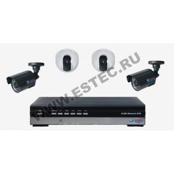 Комплект для дачи из 4 камер видеонаблюдения