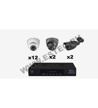 Комплект для магазина из 16 камер видеонаблюдения