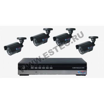 Комплект для магазина из 4 камер видеонаблюдения