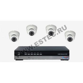 Комплект для офиса из 4 камер видеонаблюдения