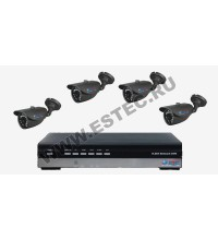 Комплект для склада и производства из 4 камер видеонаблюдения